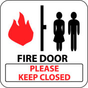 Pan-A-Vue Sign - Fire Door Please Keep Closed