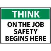 Think Osha 7x10 Vinyl - On The Job Safety Begins Here