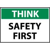 Think Osha 10x14 Plastic - Safety First