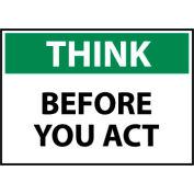 Think Osha 10x14 Vinyl - Before You Act