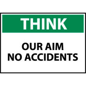 Think Osha 7x10 Vinyl - Our Aim No Accidents