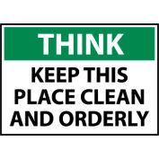 Think Osha 10x14 Vinyl - Keep This Place Clean