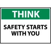 Think Osha 10x14 Vinyl - Safety Starts With You