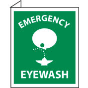 Facility Flange Sign - Emergency Eye Wash