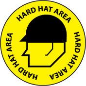Walk On Floor Sign - Hard Hat Area