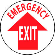 Walk On Floor Sign - Emergency Exit
