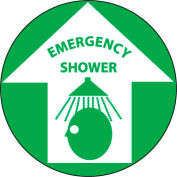 Walk On Floor Sign - Emergency Shower