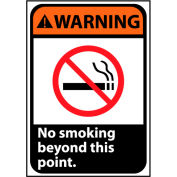 Warning Sign 14x10 Rigid Plastic - No Smoking Beyond This Point