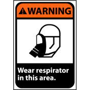 Warning Sign 14x10 Vinyl - Wear Respirator In This Area
