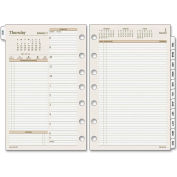 Day Runner® Two-Pages-Per-Day Planning Pages, 5 1/2 x 8 1/2, 2019