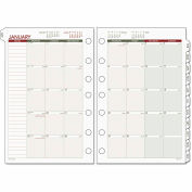 Day Runner® Monthly Planning Pages, 5 1/2 x 8 1/2, 2016