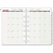 Day Runner® Monthly Planning Pages, 8 1/2 x 11, 2015-2016