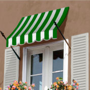 Awntech NO21-8FW, Spear Arm Awning 8-3/8'W x 2-9/16'H x 1-5/16'D Forest Green/White