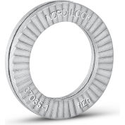 "Nord-Lock 3041 Wedge Locking Washer - Carbon Steel - Zinc Flake Coated - 1/4"" - Pkg of 20"
