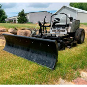 "Nordic Plow 49""W x 19-1/2""H Snow Plow For Zero Turn Mowers - Universal Mount"