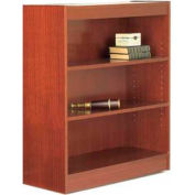 "60"" Laminate Bookcase, Mahogany w/Steel Reinforced 1"" Shelves"