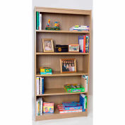 "72""H Laminate Bookcase w/1"" Shelves, Natural Maple"