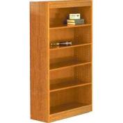 """84"""" Laminate Bookcase, Medium Oak w/Steel Reinforced 1"""" Shelves"""