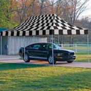 10x20 Popup Canopy - Checkered Flag Cover