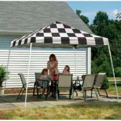 12x12 Slant Leg Pop Up Canopy - Checked Flag Cover