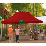 10x15 Straight Leg Pop Up Canopy - Red Cover