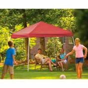 10x10 Slant Leg Pop Up Canopy - Red Cover