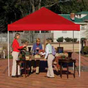 10x10 Straight Leg Pop Up Canopy - Red Cover