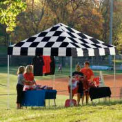 10x10 Straight Leg Pop Up Canopy - Checkered Flag Cover