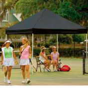 10x10 S T Popup Canopy - Black Cover w/Black Roller Bag