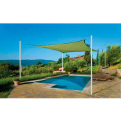 ShelterLogic, 25676, ShadeLogic Sun Shade Sail Heavy Weight Square 12 ft. x 12 ft. Lime Green
