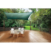 ShelterLogic, 25726, ShadeLogic Sun Shade Sail Heavy Weight Square 12 ft. x 12 ft. Evergreen
