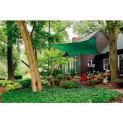 ShelterLogic, 25727, ShadeLogic Sun Shade Sail Heavy Weight Square 16 ft. x 16 ft. Evergreen