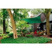 ShelterLogic, 25727, ShadeLogic Sun Shade Sail Heavy Weight Square 16 ft. x 16 ft. Evergreen