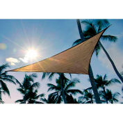 ShelterLogic, 25729, ShadeLogic Sun Shade Sail Triangle 16 ft. x 16 ft. Sand