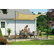 ShelterLogic, 25731, ShadeLogic Sun Shade Sail Square 12 ft. x 12 ft. Sand