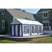 ShelterLogic, 25891, Party Tent & Enclosure Kit 9-11/16 ft. x 19-5/8 ft Blue/White