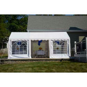 ShelterLogic, 25897, Enclosure Kit with Windows for Party Tent 9-11/16 ft. x 19-5/8 ft , White,