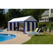 ShelterLogic, 25898, Enclosure Kit with Windows for Party Tent 9-11/16 ft. x 19-5/8 ft, Blue/White,