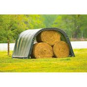 ShelterLogic, 51341, Equine Run-In Shed Round-Style 12 ft. x 20 ft. x 8 ft.