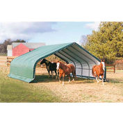 ShelterLogic, 58432, Equine Run-In Shed Peak-Style 22 ft. x 20 ft. x 10 ft.