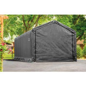 ShelterLogic 62805 Square Tube Storage Shelter- ShelterTube Series, 20'L x 12'W x 11'H, Grey