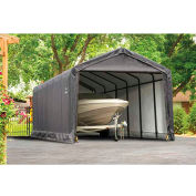 ShelterLogic, 62808, ShelterTube 12 ft x 30 ft x 11 ft. Peak Style Garage/Shelter- Gray