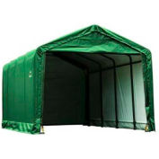 ShelterLogic 62809 Square Tube Storage Shelter- ShelterTube Series, 20'L x 12'W x 11'H, Green