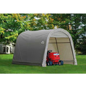 ShelterLogic, 70435, Shed-in-a-Box 10x10x8 ft. RoundTop Storage Shed-Gray