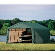 12x20x8 Peak Style Shelter - Green