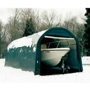 12x24x8 Round Style Shelter - Green