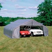 22x24x10 Peak Style Shelter - Grey