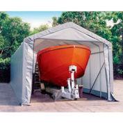14x36x16 Peak Style Shelter - Gray