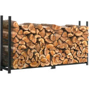 ShelterLogic® 90472 Ultra Duty Firewood Rack- Firewood Rack-In-A-Box, 8'L x 1-1/5'W x 3-8/9'H