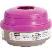 North® Combination Gas and Vapor Cartridges, 7582P100L, 2/PK
